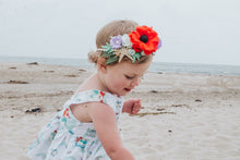 Load image into Gallery viewer, Princess Inspired Crowns Ariel inspired/feltflower/feltcrowns/flowercrowns/littlemermaid/mermaidparty/headband/mermaids