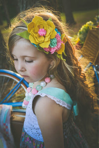 Solstice Crown/felt flower/fall/otono/kids/babyshowers/accesories/birthday/photography/photoprops