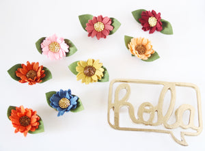 Fall singles/feltflower/felt floral /felt accesories/newborn/photoprops/newbornphotpgraphy/birthday/hair floral
