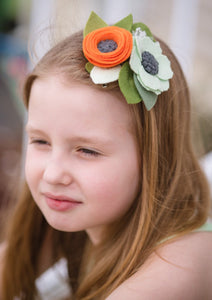 Autism Neurodiversity Inspired flower|felt flower|felt crown|mommyandme|autism|autismmom|newborn|photo props|Spring|Rainbow |