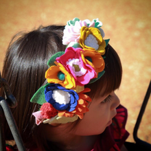 Load image into Gallery viewer, Esmeralda Crown | Felt Floral Crown