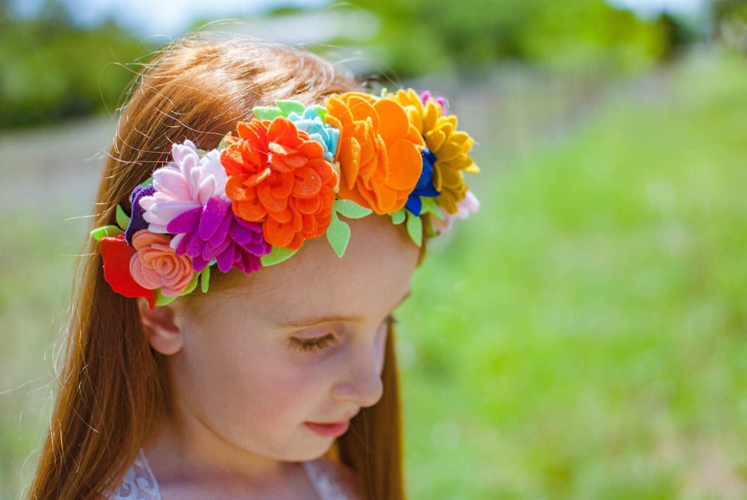 Cigala  Full Size Fiesta Crown|| Felt Floral