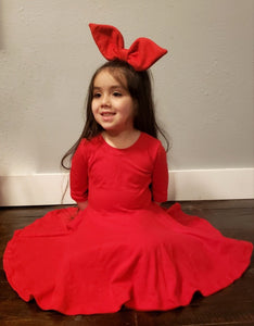 Red Shapeable  Bow
