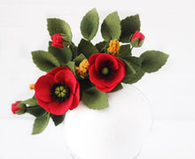 Load image into Gallery viewer, Poppy Floral Fascinator