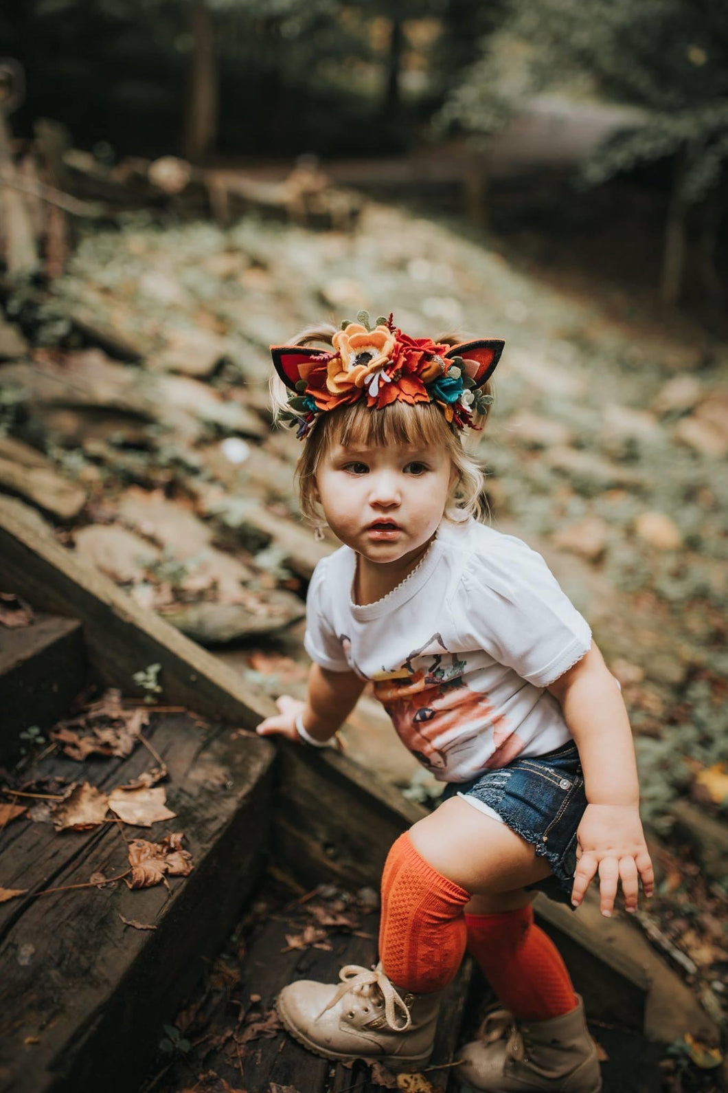 Fox Small Floral Crown