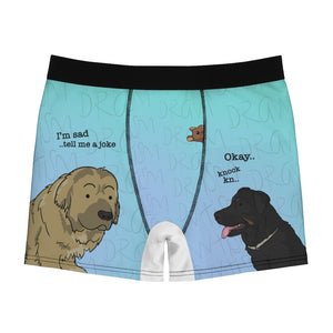 'Dog world problems' Men's Boxer Briefs