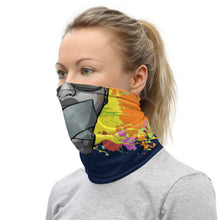 Load image into Gallery viewer, Drawtism 'boom' Logo; Face cover/Neck Gaiter