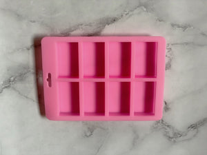 8 Cavity Rectangle Soap Mold | The Saboni