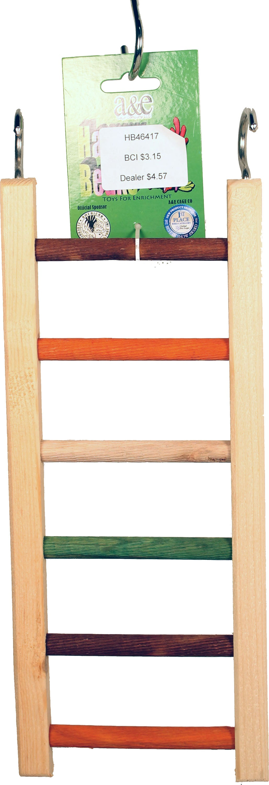 Happy Beaks Wooden Hanging Ladder