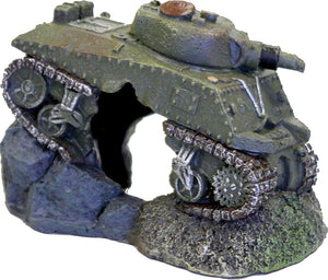Exotic Environments Army Tank With Cave