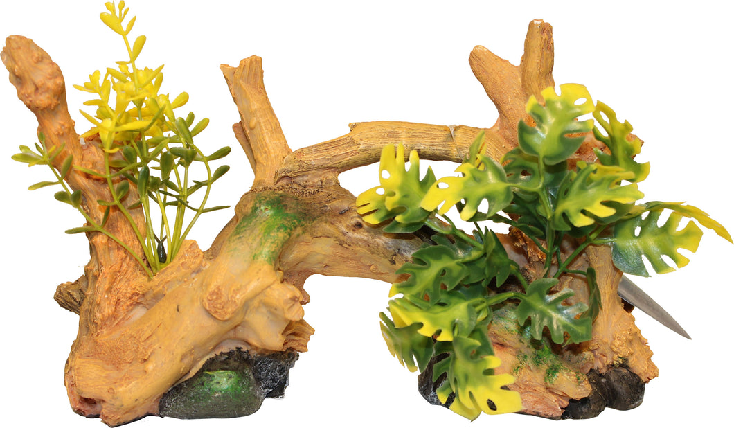 Driftwood Centerpiece With Plants