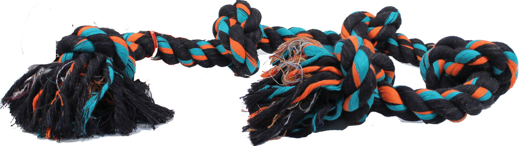 Flossy Chews Color 5 Knot Rope Tug Dog Toy