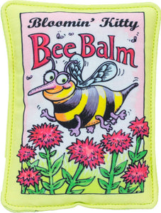 Bloomin' Kitty Bee Balm Seed Packet Cat Toy