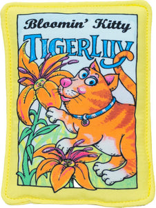 Bloomin' Kitty Tiger Lily Seed Packet Cat Toy