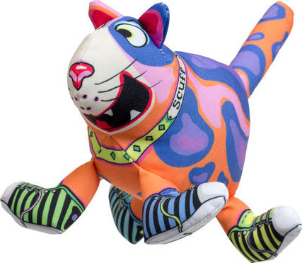 The Sneaky Cat! Scuff Squeaker Dog Toy