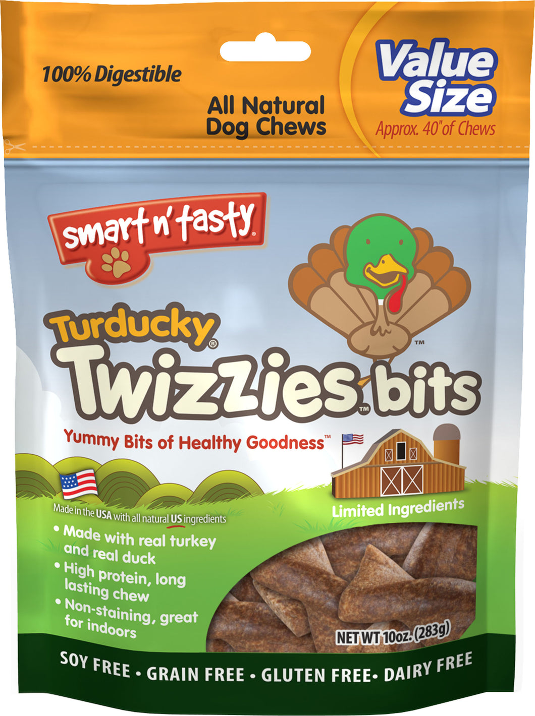Emerald Pet Turducky Twizzies Bits