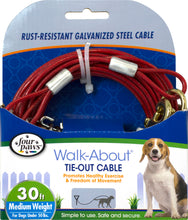Load image into Gallery viewer, Four Paws Dog Tie Out Cable- Medium Weight