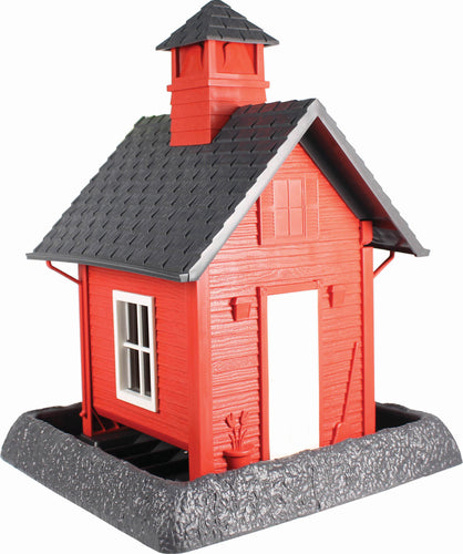 Village Collection School House Bird Feeder