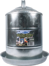 Load image into Gallery viewer, Double Wall Cone Top Galvanized Poultry Wall Fount