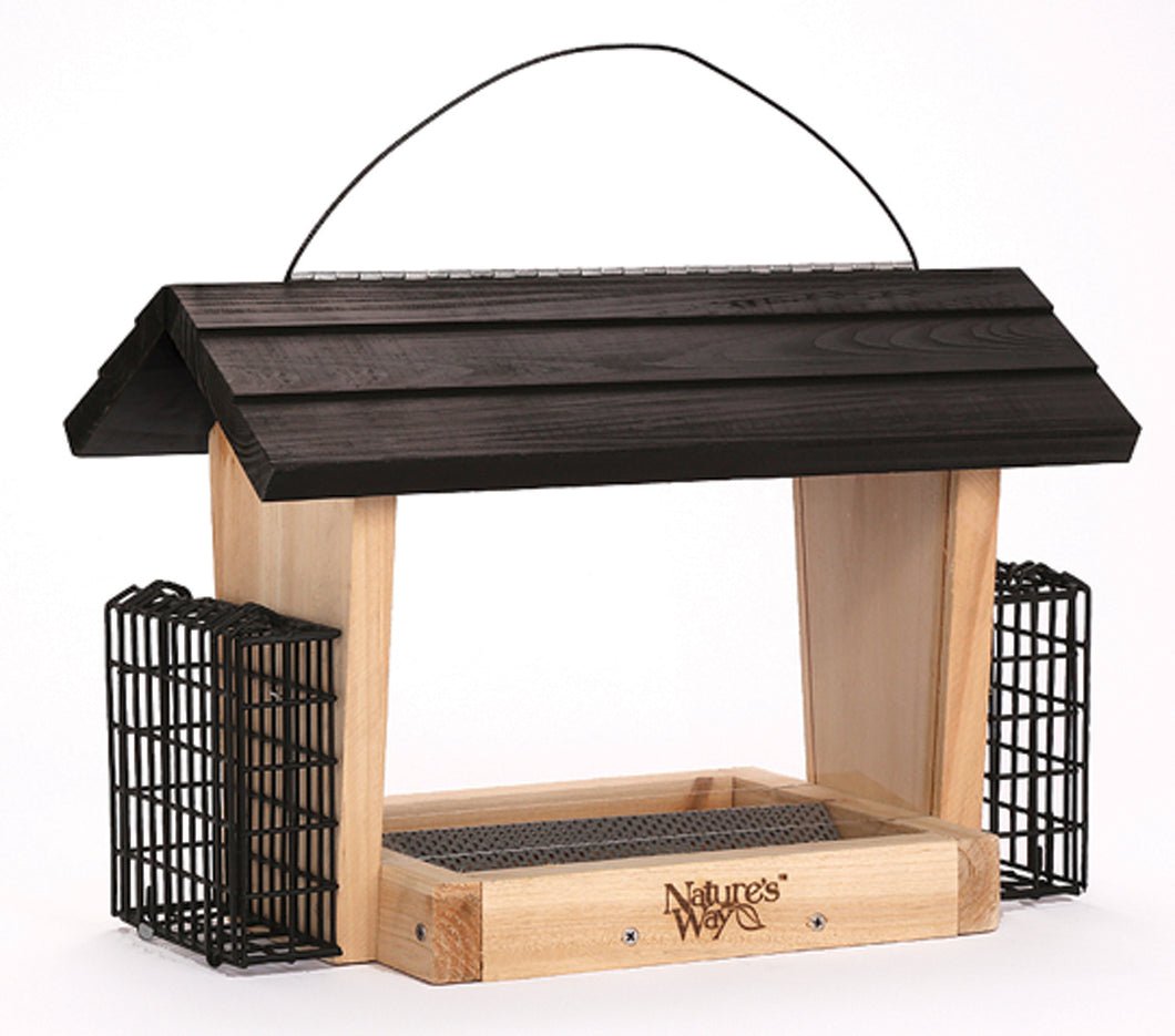Hopper Feeder With Suet Cages