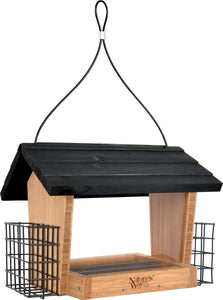 Hopper Feeder Bambo With Suet Cages