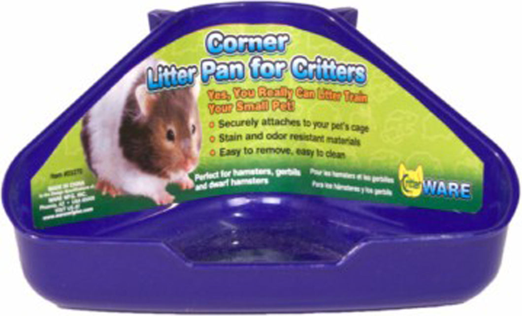 Corner Litter Pan For Critters