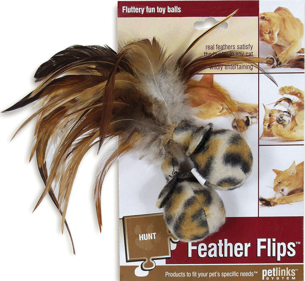Feather Flips Feathered Ball Cat Toy