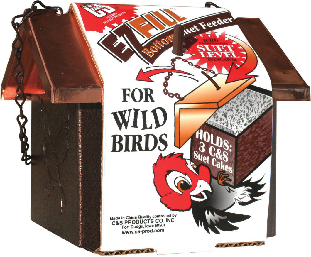 Ez Fill Bottom Suet Feeder With Roof