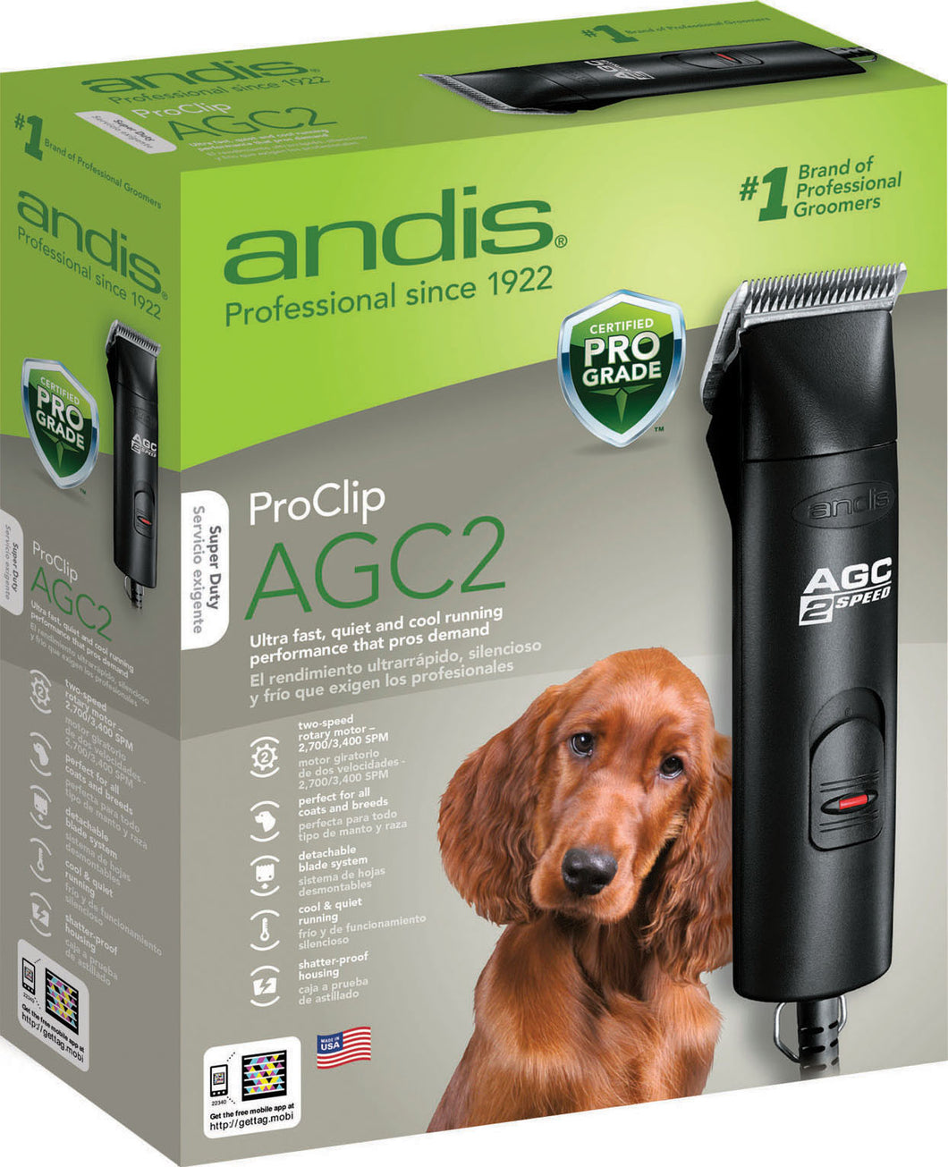 Agc2 2 Speed Professional Animal Clipper
