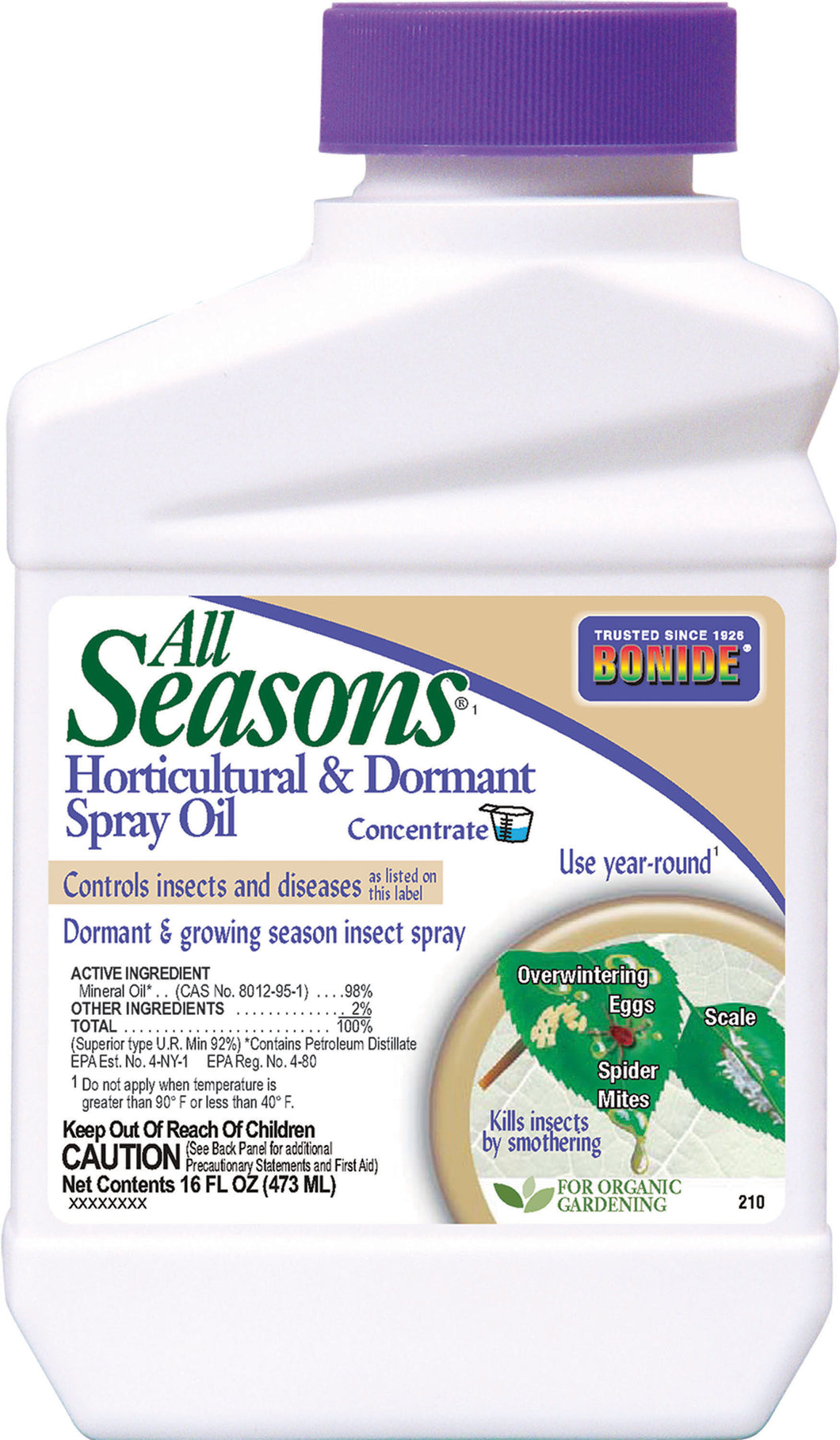 All Seasons Horticultural Oil Spray Concentrate