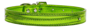 "3/8"" (10mm) Metallic Two Tier Collar Lime Green Large"