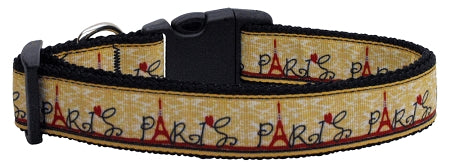 With Love from Paris Ribbon Dog Collars Medium