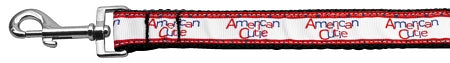 American Cutie Ribbon Dog Collars 1 wide 4ft Leash