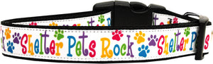 Shelter Pets Rock Nylon Dog Collars Large