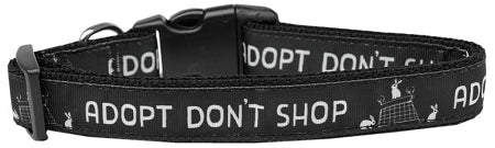 Adopt Don't Shop Nylon Dog Collar Medium