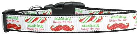 Stashing through the Snow Nylon Dog Collar Large