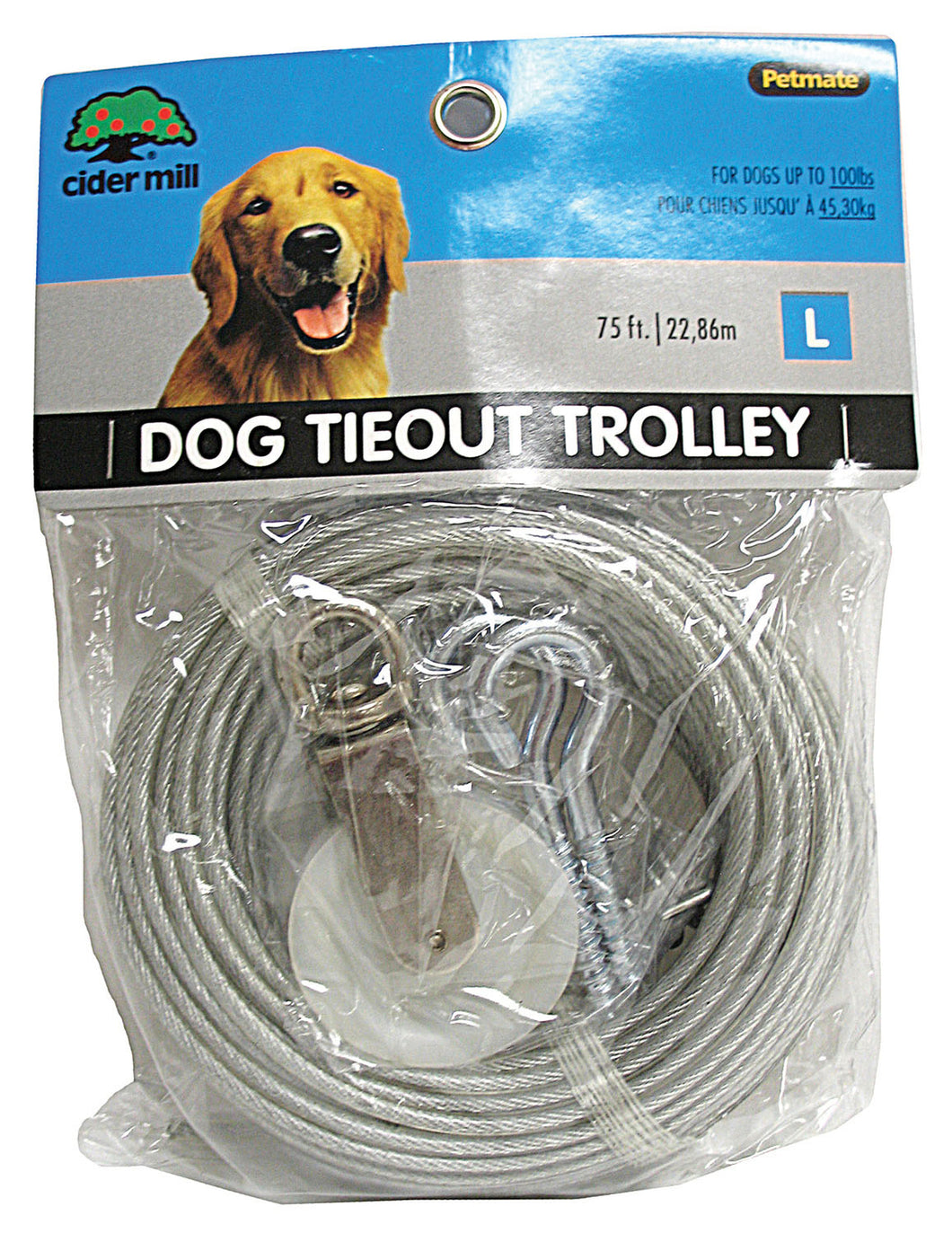 Aspen Pet Dog Tieout With Trolley Wheel
