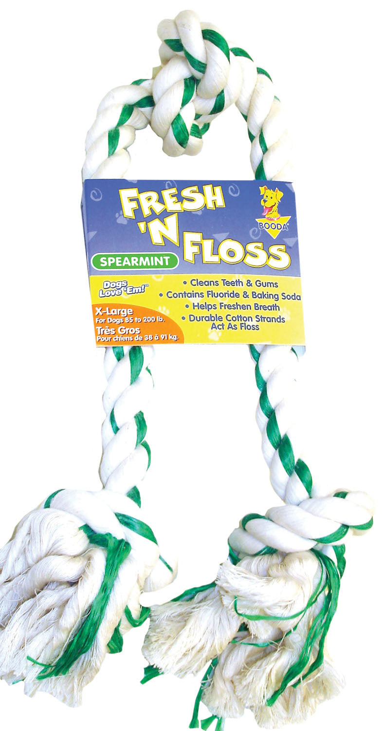 Fresh-n-floss 3-knot Rope Bone Dog Toy