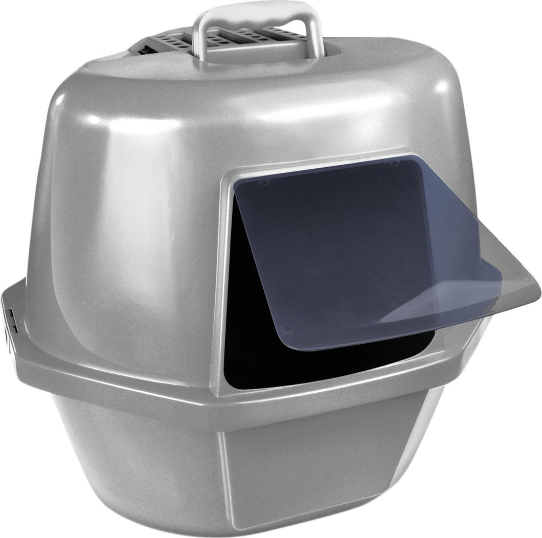 Enclosed Corner Cat Pan With Odor Door And Filter