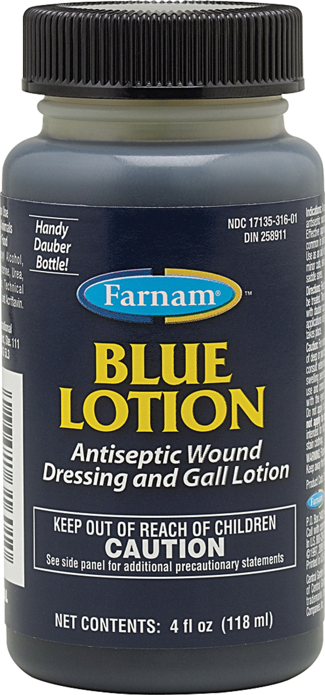 Blue Lotion Antiseptic Wound Dressing