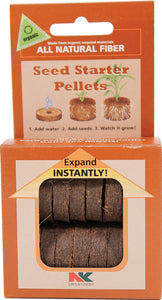All Natural Fiber Seed Starter Pellets
