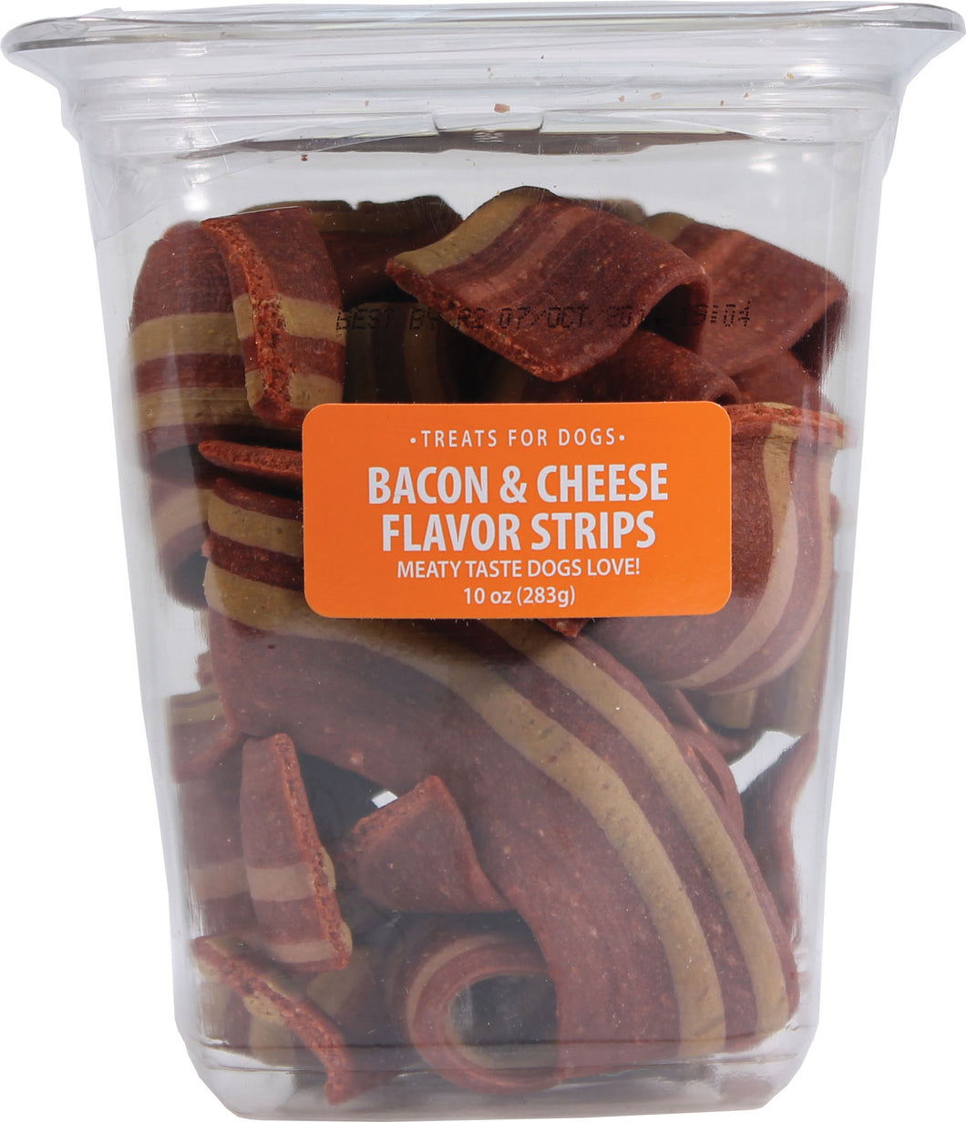 Bacon & Cheese Flavor Strips Dog Treats