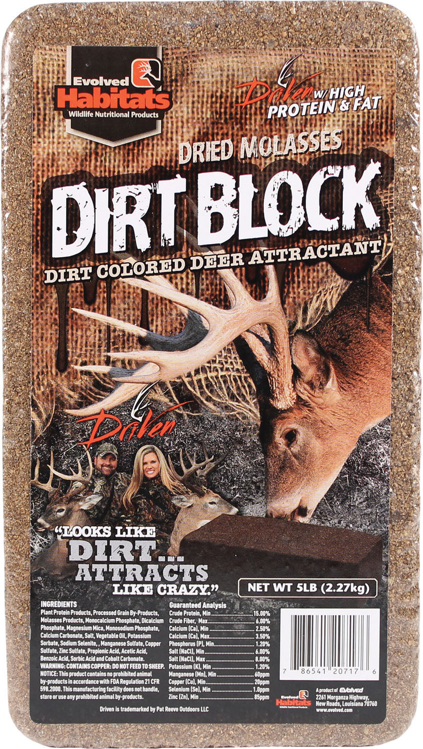 Dirt Block Dried Molasses Deer Attractant