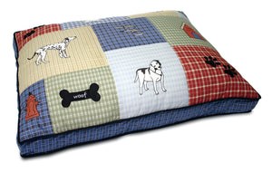 Classic Dog Applique Gusseted Bed