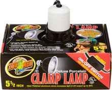 Load image into Gallery viewer, Deluxe Porcelain Clamp Lamp