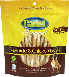 Cadet Gourmet Rawhide & Chicken Twist