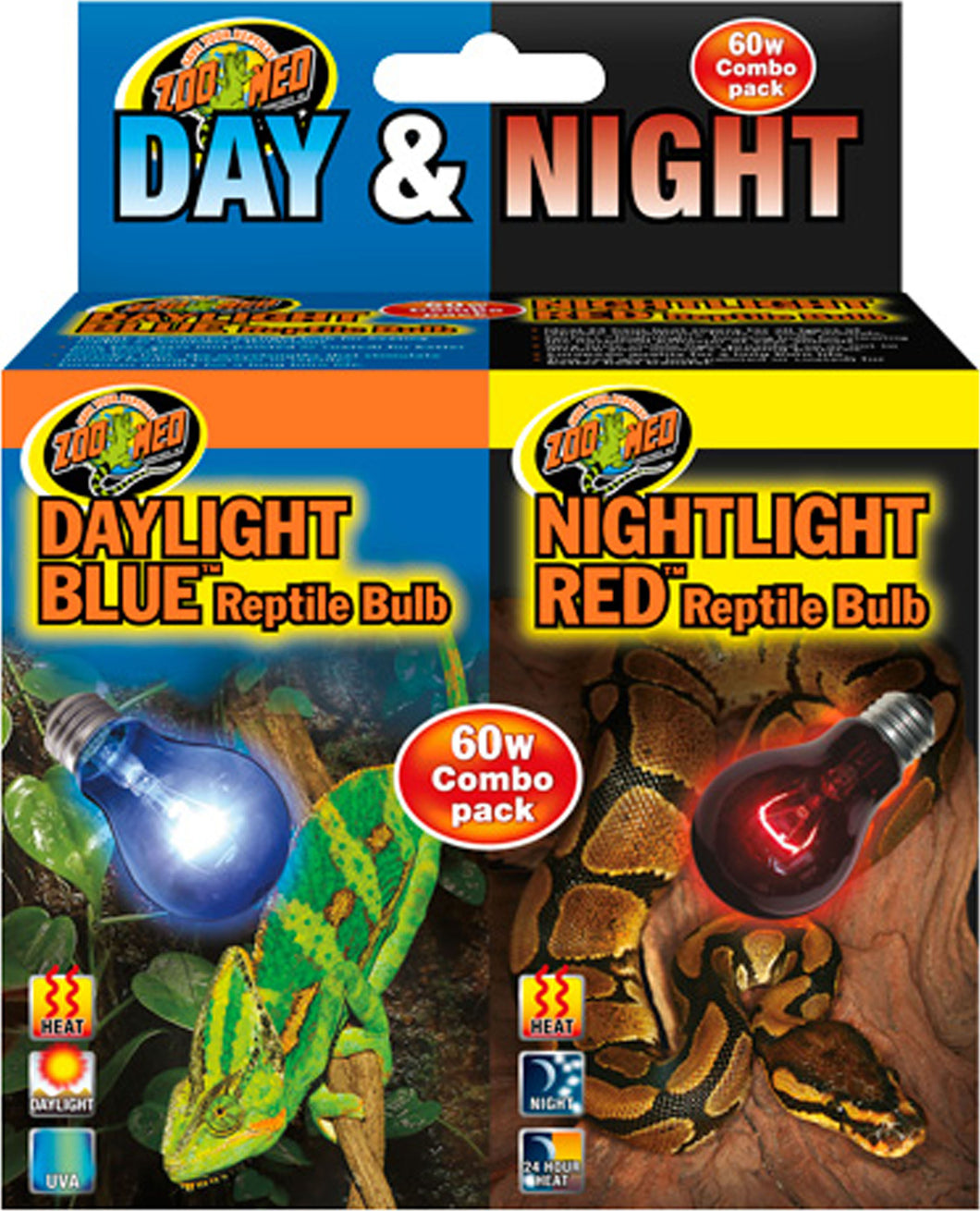Day And Night Reptile Bulb Combo Pack
