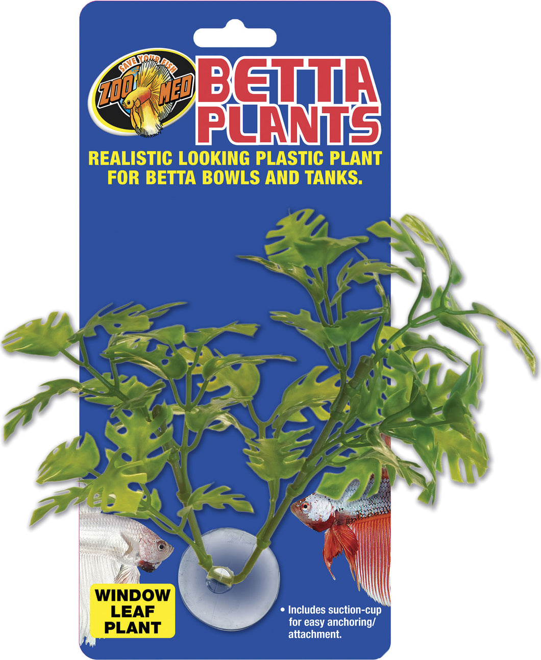 Betta Plastic Plant Window Leaf
