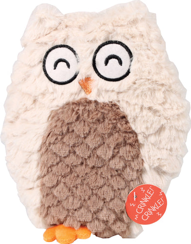 Soft Swirl Plush Owl Dog Toy