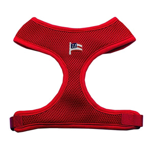 American Flag Chipper Red Harness Small